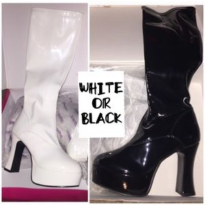 NWT Patent Leather Platform Boots